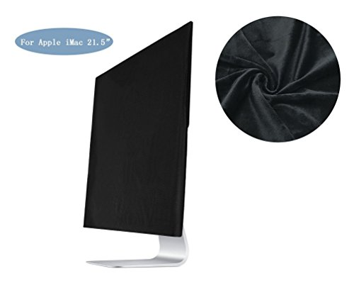 VIEEL ベルベット モニター防塵カバー ディスプレイカバー Display 防護カバー 静電防止 防塵 ソフトファブリックApple iMac (21.5, ブラック)