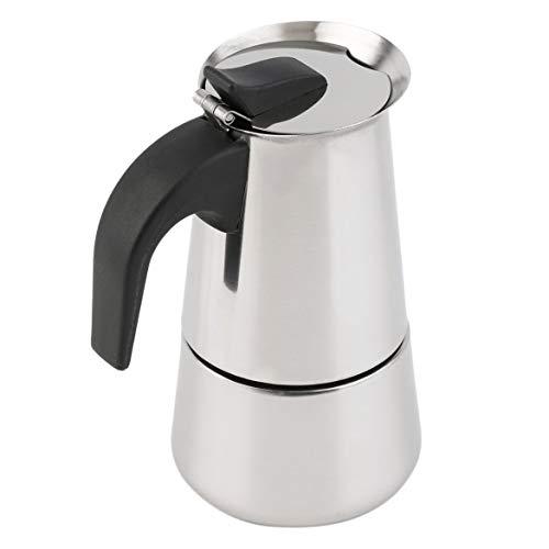 JohnJohnsen 2/4/6-taza de percolador Estufa cafetera Superior Moka Espresso Latte Olla Inoxidable