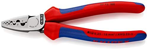 KNIPEX 97 72 180 Crimpzange für Aderendhülsen mit Mehrkomponenten-Hüllen 180 mm