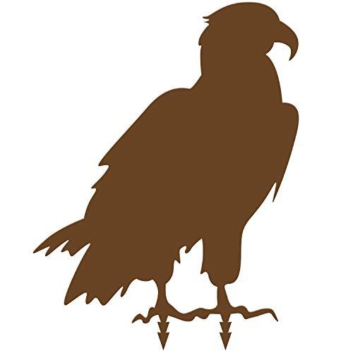 bellissa Diverse Deko Rost-Figuren Tiere – Lebensgroße Dekotiere Gartenstecker Zaun Corten Edelrost Adler 50 x 40 x 0,2 cm