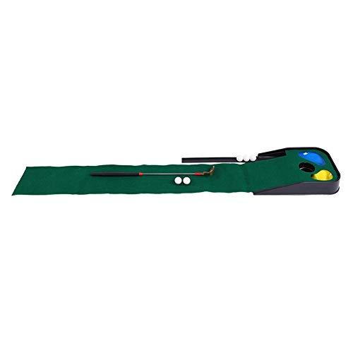 VGEBY1 Colchoneta de práctica de Golf, Putting Green de Golf para niños con devolución de Bolas, Club de Golf telescópico para Interiores al Aire Libre