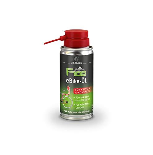 Dr. Wack - F100 eBike-Öl – Spray 100 ml I Premium Fahrrad Ketten- & Kontaktöl für weniger Reibung & Verschleiß I Kettenöl für E-Bike I Hochwertige Fahrradpflege – Made in Germany