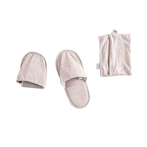 Ciabatte da Viaggio Pieghevoli Scarpe da Uomo Donna Scarpe da Donna Pantufa Pantofole da Viaggio per Aerei (Rosa)