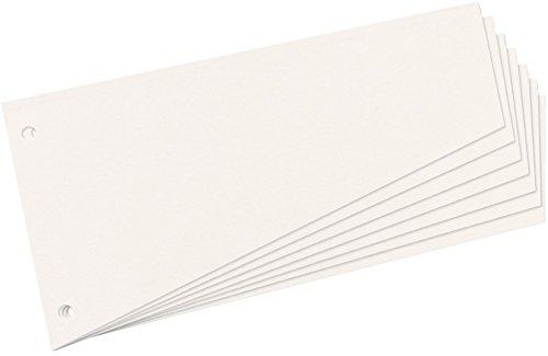 Herlitz Trennstreifen Trapez 230 x 120 mm (200 Stück, weiß)