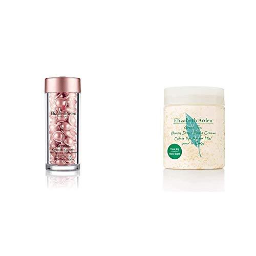 Elizabeth Arden Retinol Ceramide Capsules Line Erasing Night Serum, 60 Capsules & Green Tea Honey Drops Body Cream, 1er Pack (1 x 500 ml)