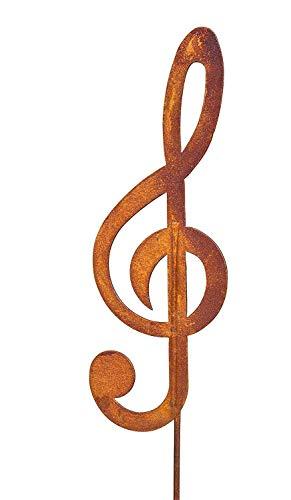 G-Schlüssel Messing Brieföffner Musiknoten Motiv 21 cm Lang NEU