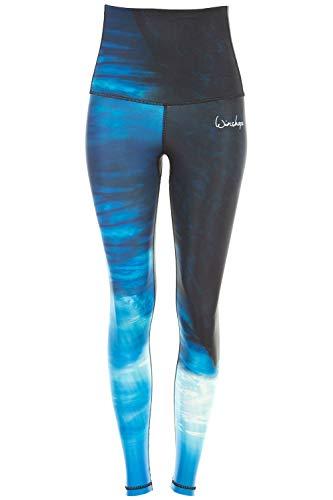 Winshape Functional Power Shape Jeans Tights Leggings High Waist HWL102, Water, Slim Style, Fitness Vrije tijd Sport Yoga Workout, meerkleurig, XL