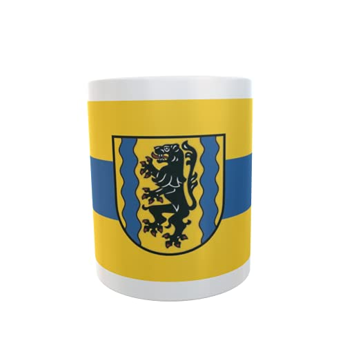 U24 Tasse Kaffeebecher Mug Cup Flagge Landkreis Nordsachsen