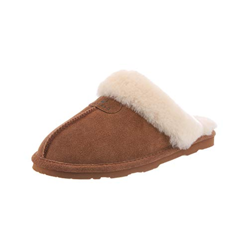 BEARPAW Women's Loki II Slide Slippers Hickory 7.5