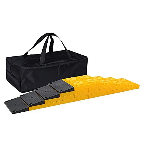 Homeon Wheels Rv Leveling Blocks, Used for Leveling Single Wheels, Heavy...