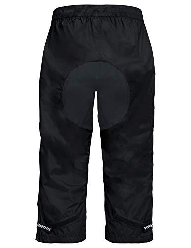 VAUDE Herren Drop 3/4 Pants Regenhose für Radsport Hose, Black, 48 - 2