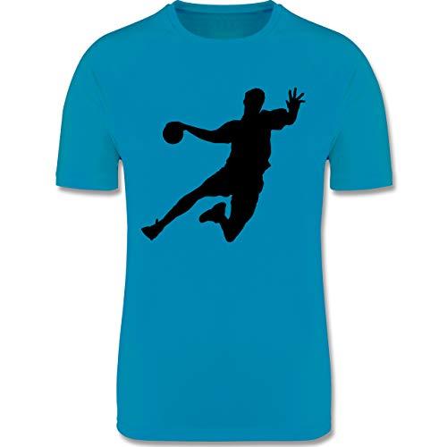 Sport Kind - Handballer - 152 (12/13 Jahre) - Himmelblau - Sportshirt Jungen 164 - F350K - atmungsaktives Laufshirt/Funktionsshirt für Mädchen und Jungen