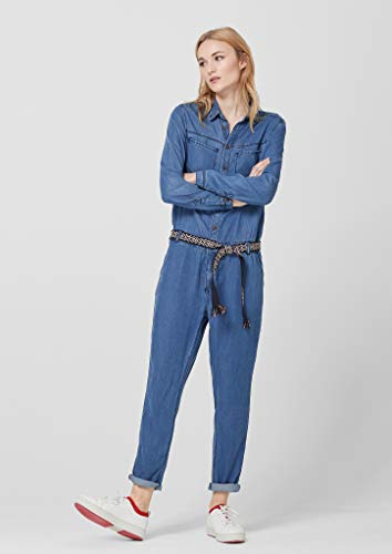 s.Oliver RED Label Damen Denim-Overall, blau jeans-look - 3