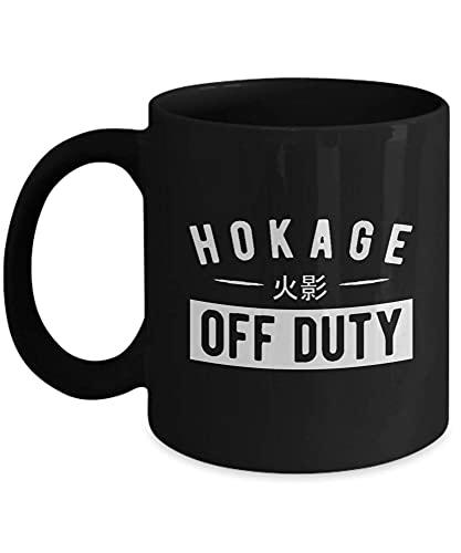 N\A Regalo para los Amantes del Anime Hokage Off Duty Naruto, Anime, Manga, Hobby, Japón, Viendo Anime, Ninja, Konoha Taza Negra de cerámica de 11 oz CCT6GO