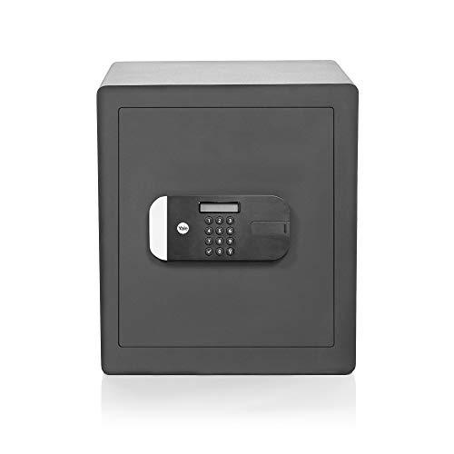 Yale YSEM 400 EG1 Coffre-Fort Haute Sécurité à Serrure Electronique 100 000 Combinaisons (Certifié SKG), A Poser et Sceller | Format 40 x 35 x 34 cm (35,5L), Anthracite