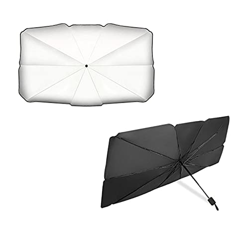 Hearthxy Parasol para coche, parasol para parabrisas interior, plegable, reflector, protección UV, universal para la mayoría de coches, SUV y camiones.