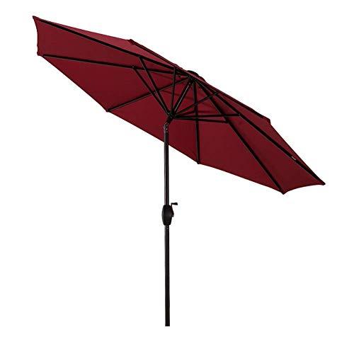 GBTB Paraguas de Mesa de jardín de 9 pies / 270 cm con Ajuste de inclinación, Exteriores, Mercado de Eventos comerciales en la Playa, Camping, Piscina (Color: Rojo Vino)