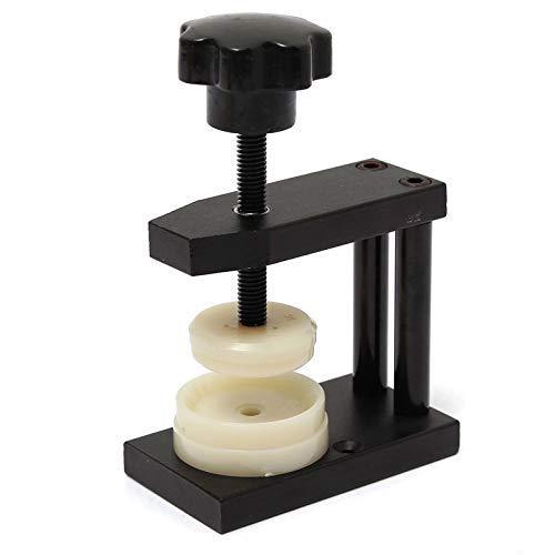 NBVCX Maschinenteile 24-42mm 12 Matrizen Uhr Kristall Vorderseite Rückseite Gehäuseabdeckung Schraube Presser Schließen Mini-Bohrmaschine Vize-Uhrmacher Reparatursatz Werkzeuge