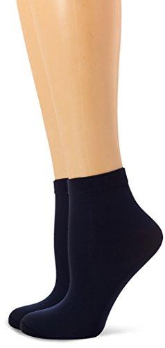 Dim Style Tobilleros opacos Calcetines, 40 DEN, Azul (Azul Marino 6me), One Size (Tamaño del Fabricante:35/41) (Pack de 2) para Mujer