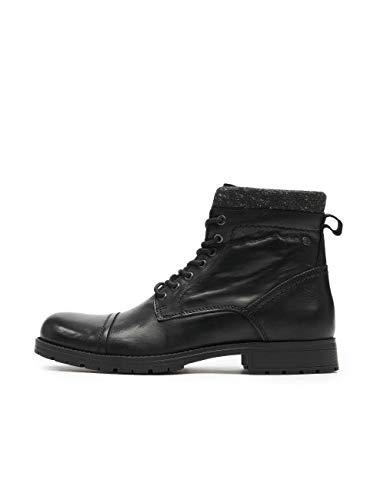 Jack&Jones schoenen boots 12167094 JFWMARLY leer zwart
