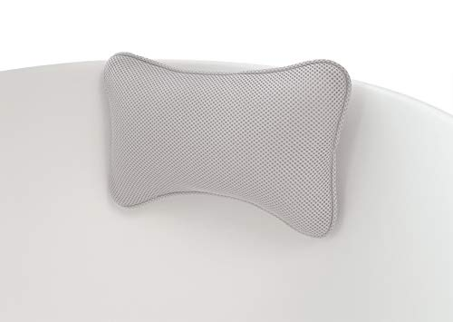 Bath Pillows for Tub—Head Neck Support Rest—2 Non-slip Suction Cups, Waterproof Washable 3D Mesh Fabric, Easy Clean Quick Dry—Bath Accessories for Women, Bathtub Cushion, Bath Gift for Home spa
