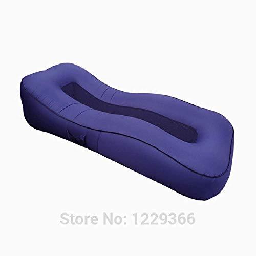 Al aire libre plegable inflable sofá cama nylon impermeable aire sofá playa tumbona exterior muebles de jardín oficina dormir Daybed