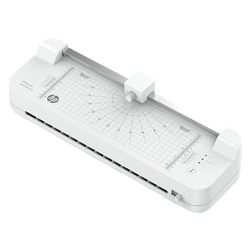 HP OneLam Combo A3, Laminiergerät, 75/80 - 125 Micron, 400 mm pro Minute, inkl. Integriertes Schneidegerät, Eckenabrunder und Laminierfolien