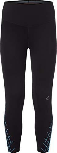 Pro Touch Damen 7/8 Stine Leggings, Black/Turquoise/Re, 38