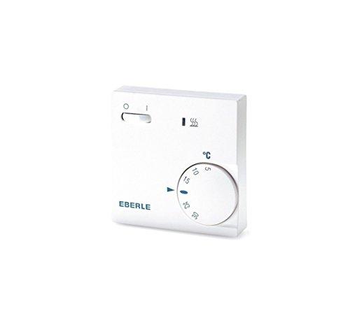 EBERLE 111110451100 Eberle RTR - E 6202 Raumtemperaturregler mit Netzschalter Ein / Aus und LED Heizen