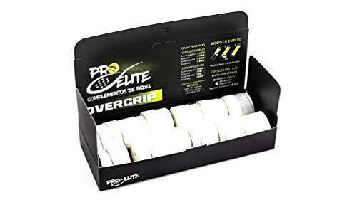 overgrips Pro Elite Premium Perforados Blancos. Caja 10+2 unds.