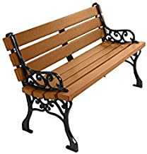 Kirby Built Products 4' Recycled Plastic Classic Park Bench - Cedar