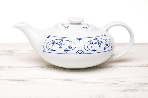 CUP+MUG Indisch blau Teekanne flach