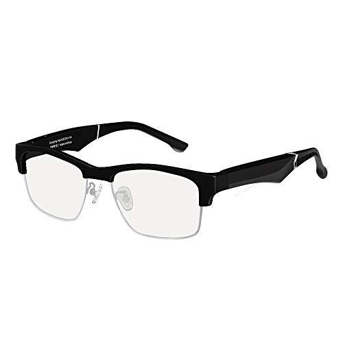 Gafas de sol inteligentes con Bluetooth 5.0, gafas de sol de manos libres, con llamadas y música para teléfonos iPhone y Android, unisex, compatible con luz azul anti B