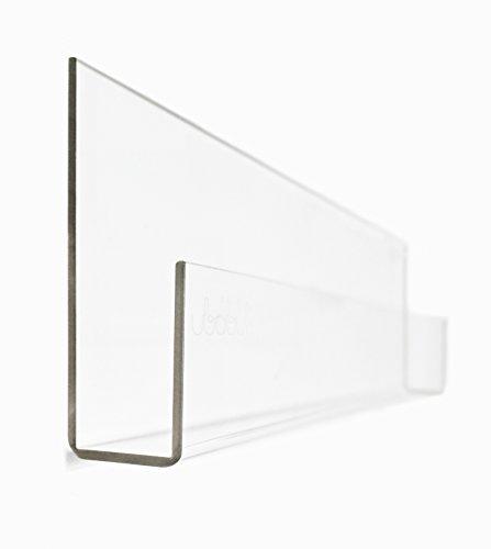 "Ubabub Book See 35.5"" Clear Acrylic Wall Mount Bookshelves (Set of 2)"