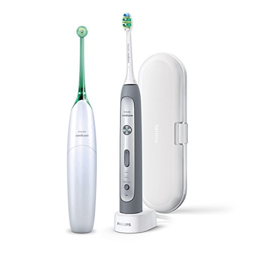 Philips Sonicare HX8273/20 Flexcare Platinum Rechargeable Toothbrush and Philips Sonicare AirFloss Duo Pack