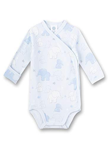 Sanetta Baby-Jungen Wickelbody Spieler, Blau (blau 50308), 62 (Herstellergröße:062)