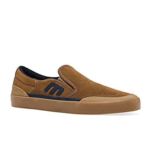 Etnies Zapatillas de skate para hombre Marana Slip XLT Slip-on, Marrón/Azul marino/Gum, 41 EU