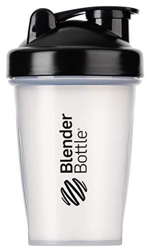 BlenderBottle Classic Loop - Botella Mezcladora de Batidos de proteínas con batidor Blenderball, Multicolor (Clear/ Negro), 590ml
