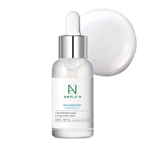 Coreana AMPLE:N Ampolla de inyección de Hyaluron 1.01 fl.onz.(30 ml) - Potente suero facial hidratante con ácido hialurónico, rellena y suaviza, hidrata diariamente la piel seca