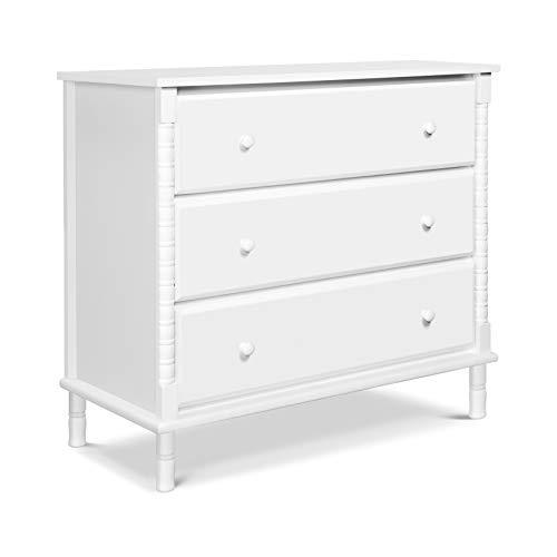 Davinci Jenny Lind Spindle 3-Drawer Dresser in White