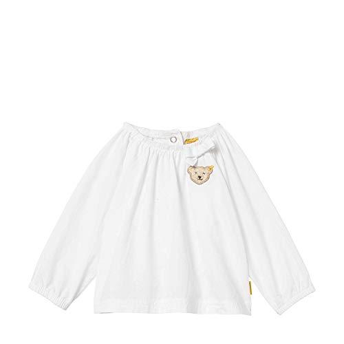 Steiff Baby-Mädchen 1/1 Arm Bluse, Weiß (Bright White 1000), (Herstellergröße: 80)