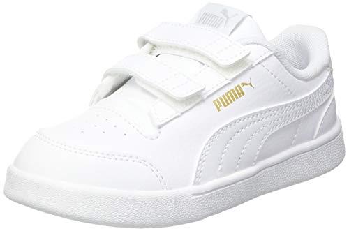 Puma Shuffle V Inf, Scarpe da Ginnastica Unisex Baby, White White/Gray Violet Team Gold, 26 EU