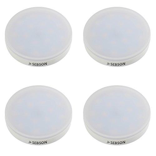SEBSON® 4er-Pack GX53 LED Lampe 4,5W 360lm (Ersetzt 30W) [Warm-Weiß - SMD LED Leuchtmittel - 110° Abstrahlwinkel]