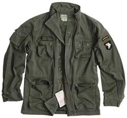 A.Bl chl US Vintage Feldjacke Airborne Feldparka mit Futter und Kaputze Wind- und N sseschutz Herbstjacke Stone Washed Oliv S-XXL