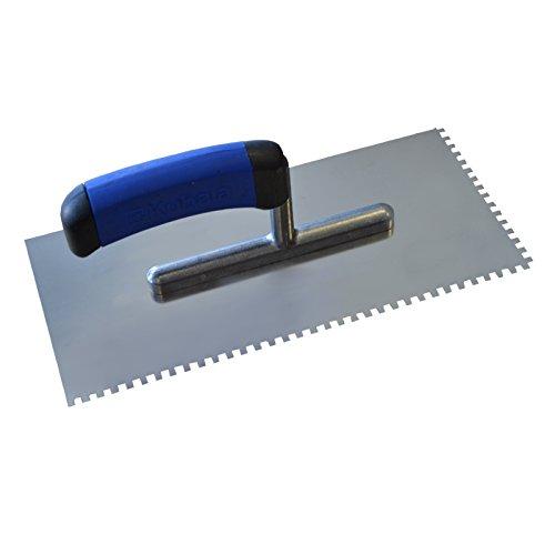 DEWEPRO® Zahnkelle - Zahnspachtel - Glättekelle gezahnt - Zahnung: 4x4mm - Zahnglättekelle -Modell PROFI