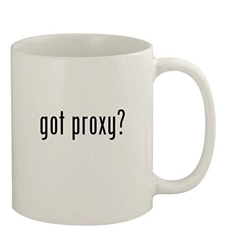 got proxy? - 11oz Ceramic White Coffee Mug, White