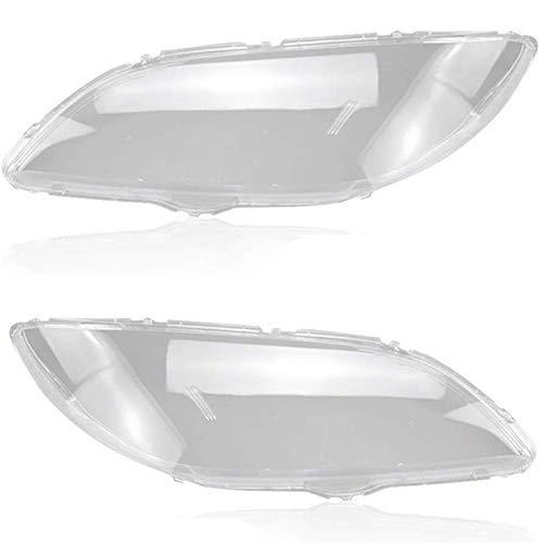 Cubierta de Lente de Faro de Coche Coche transparente de la lente de la luz delantera 2pcs Funda de la lámpara de la luz de la cabeza del coche fit for Mazda 3 2006-2012 Lente a prueba de agua Auto Sh