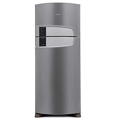 Geladeira Consul Frost Free Duplex 405 litros cor Inox com Filtro Bem Estar 110V