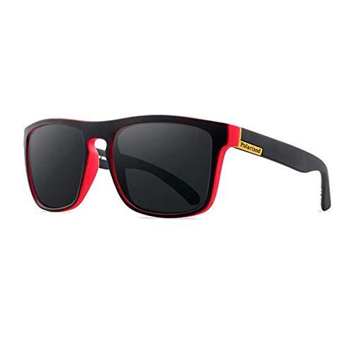 Gafas De Sol Gafas De Sol Polarizadas para Hombre, Gafas De Sol para Hombre, Gafas De Sol para Hombre, Retro, Baratas, De Lujo, Diseñador para Mujer, Uv400, Negro, Rojo