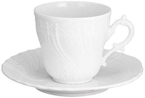 RICHARD GINORI(リチャード ジノリ) ベッキオ・ホワイト コーヒーカップ&ソーサー(L) 【並行輸入品】 2770/2830